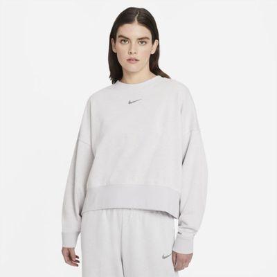 Damska bluza z dzianiny o kroju oversize Nike Sportswear Collection Essentials - Szary