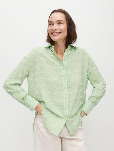 Koszula z aplikacją - Zielony