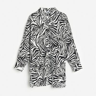 Koszula w zwierzęcy deseń - Wielobarwny