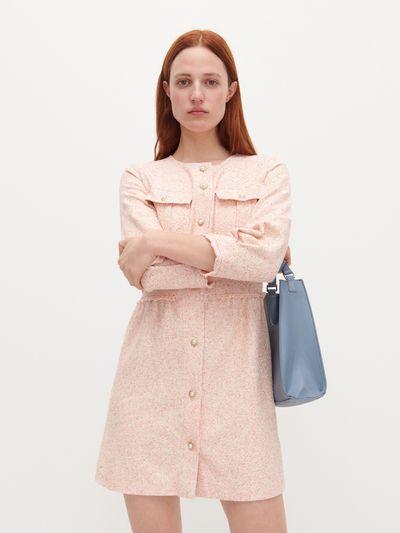 Sukienka z dekoracyjnymi guzikami - Wielobarwny