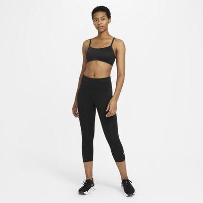 Damskie legginsy typu capri ze średnim stanem Nike One - Czerń