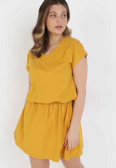 Żółta Sukienka Harphephine