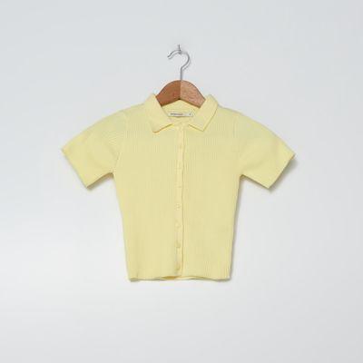 Sweter z krótkim rękawem - Żółty