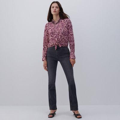 Jeansy z bawełny organicznej - Szary