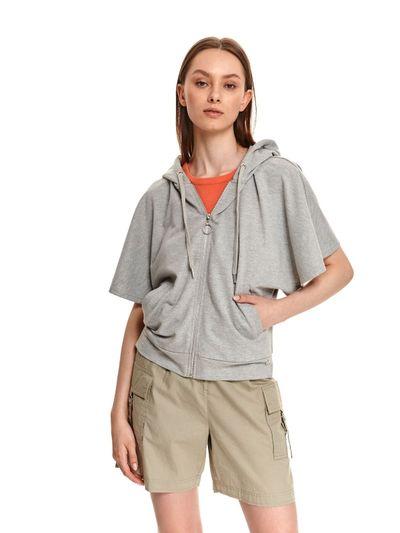 Rozpinana bluza damska z krótkim rękawem