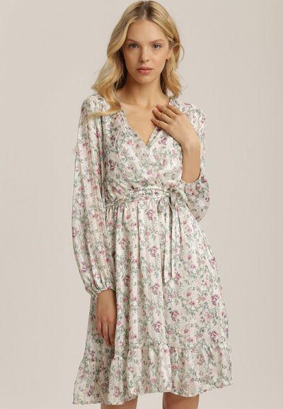 Biała Sukienka Meridarah