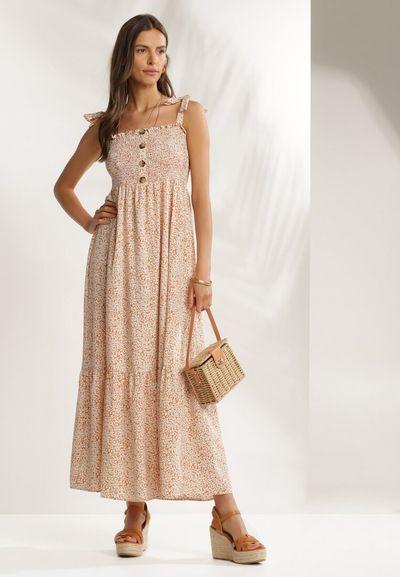 Beżowa Sukienka Doreawen