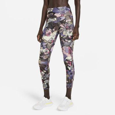 Damskie legginsy 7/8 ze średnim stanem do biegania Nike Epic Fast Femme - Czerń