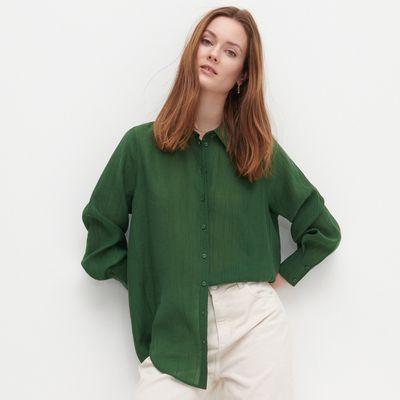 Koszula z Tencelu™ Lyocellu - Zielony