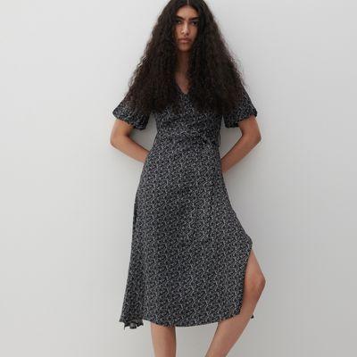 Sukienka z drobnym wzorem - Czarny