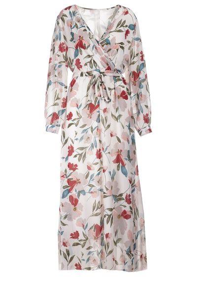 Biało-Bordowa Sukienka Doryrianne