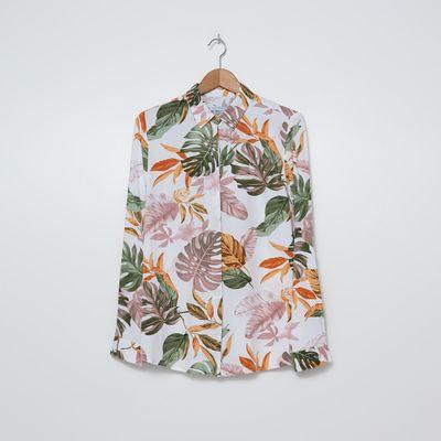Wiskozowa koszula basic - Wielobarwny