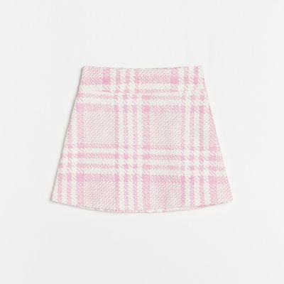 Dzianinowa spódnica mini - Różowy