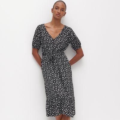 Wiskozowa sukienka - Wielobarwny