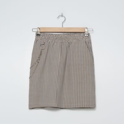 Spódnica mini z łańcuchem - Wielobarwny