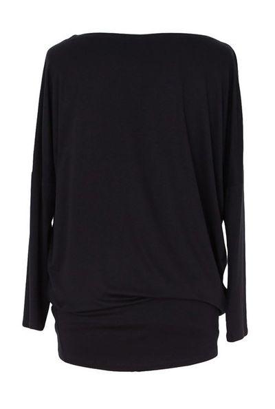 Bluzka tunika z wiskozy czarna od S do 3XL - BASIC