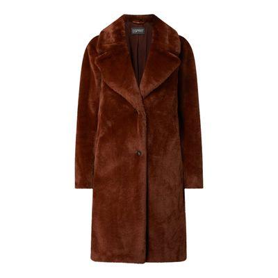 Esprit Collection Płaszcz ze sztucznego futra