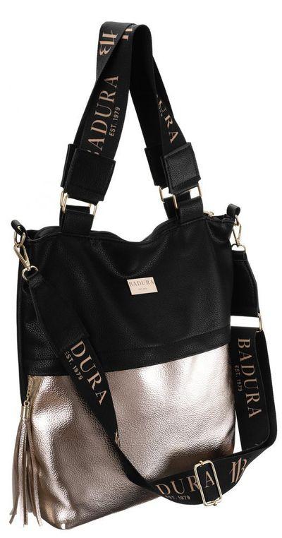 Duża damska torebka na ramię shopper — Badura