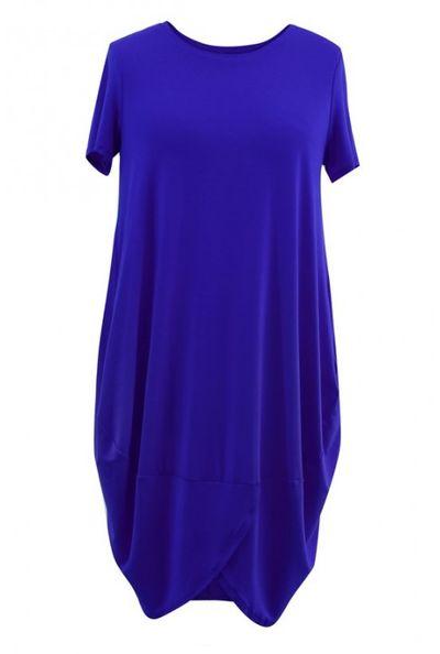 Chabrowa sukienka z krótkim rękawem LUCY