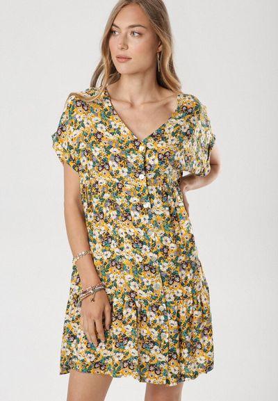 Żółta Sukienka Eatherene