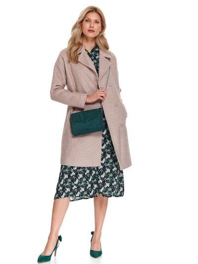 Płaszcz damski z tkaniny boucle