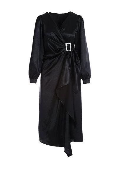 Czarna Sukienka Flagler