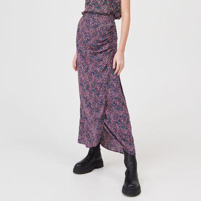 Kopertowa spódnica maxi - Wielobarwny