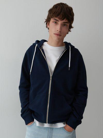 Bluza z kapturem - Granatowy