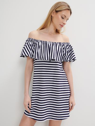 Sukienka hiszpanka Eco Aware - Niebieski