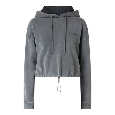REVIEW Bluza krótka z kapturem i obniżonymi ramionami
