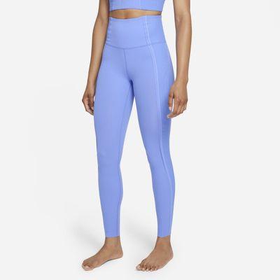 Damskie legginsy 7/8 z wysokim stanem Infinalon Nike Yoga Luxe Dri-FIT - Niebieski