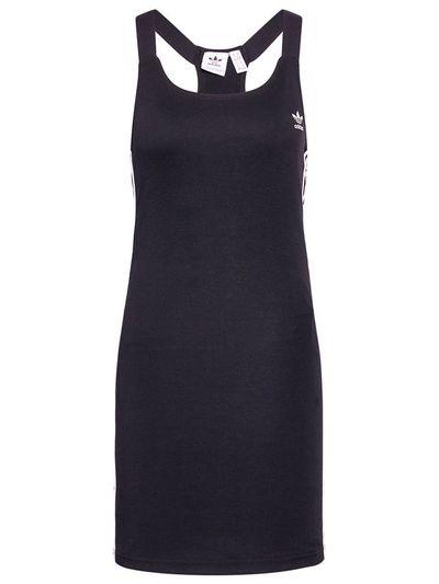 adidas Sukienka codzienna Racer B GN2878 Czarny Slim Fit