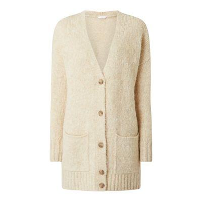 BOSS Casualwear Długi kardigan z dodatkiem wełny z alpaki model 'Fylda'