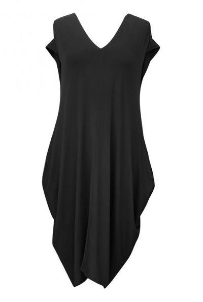 Czarna dzianinowa sukienka - CYNTIA