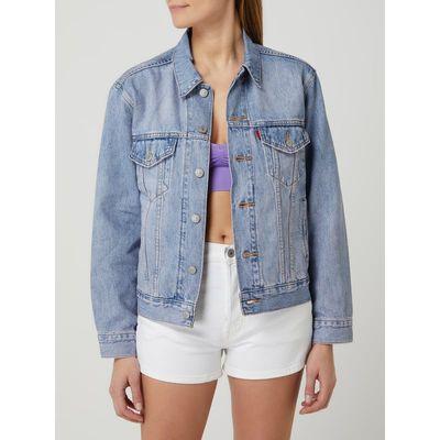 Levi's® Kurtka jeansowa w stylu trucker o kroju ex boyfriend fit z bawełny