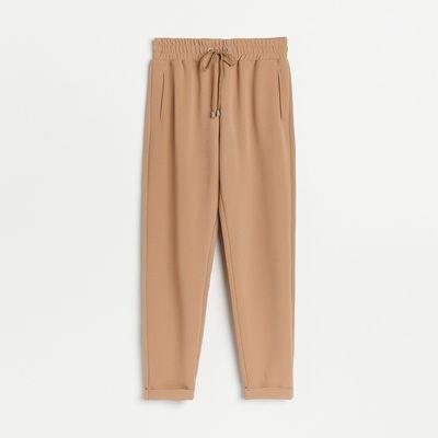 Dzianinowe spodnie - Beżowy