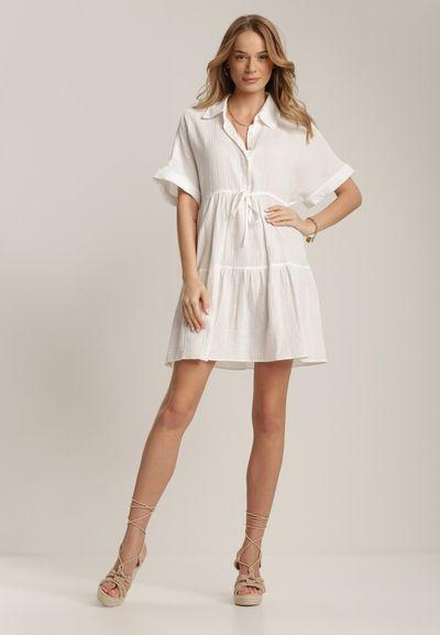 Biała Sukienka Akisine