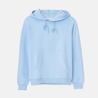 Bluza z kapturem basic - Niebieski