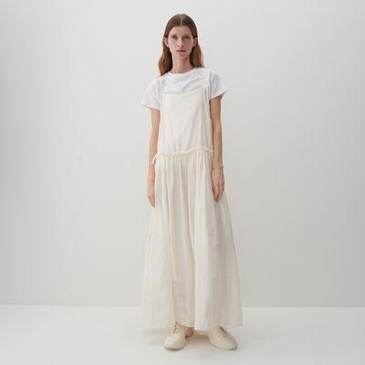 PREMIUM Sukienka z Tencel™ Lyocellem - Kremowy