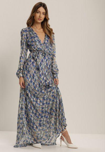 Niebieska Sukienka Nysacia
