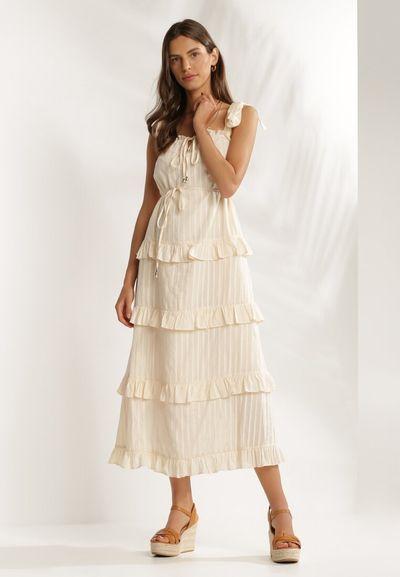 Jasnobeżowa Sukienka Noegana