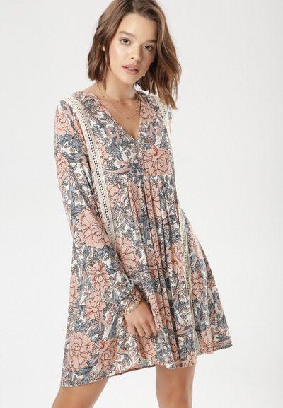 Biało-Różowa Sukienka Sheleh