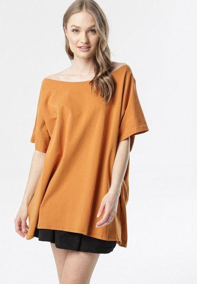 Camelowy T-shirt Sirefa