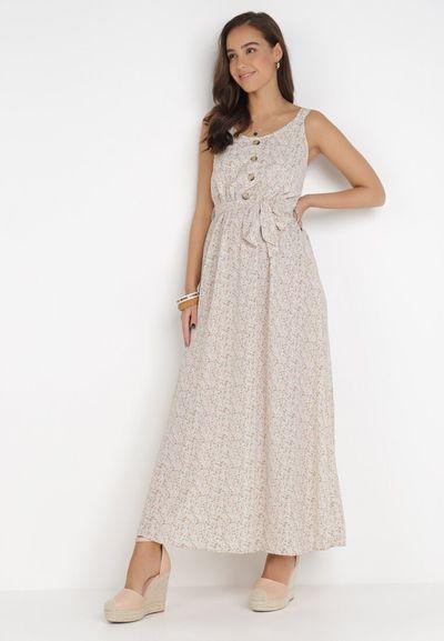 Kremowa Sukienka Aquavianna
