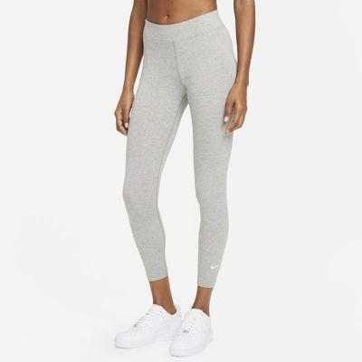 Damskie legginsy 7/8 ze średnim stanem Nike Sportswear Essential - Szary