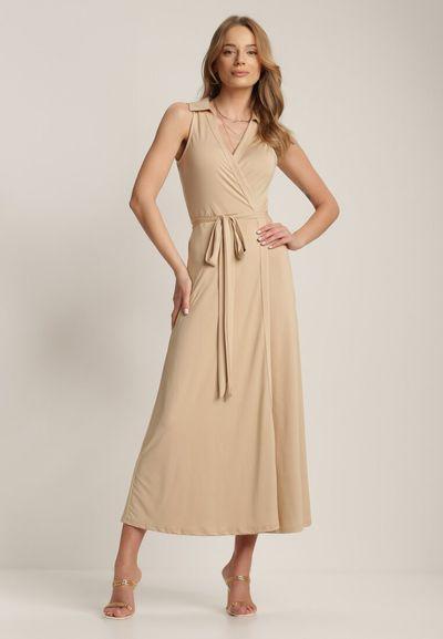 Beżowa Sukienka Crethallis