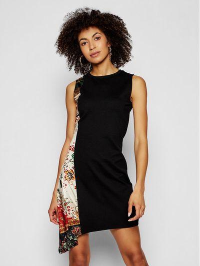 Desigual Sukienka codzienna Thaiyu 21SWVK28 Czarny regular_fit