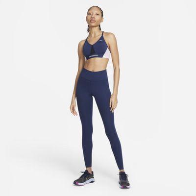 Damskie legginsy ze średnim stanem Nike One Luxe - Niebieski