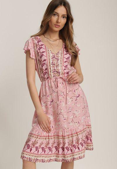 Jasnoróżowa Sukienka Sthethy