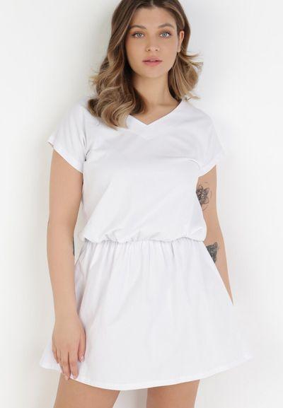 Biała Sukienka Harphephine